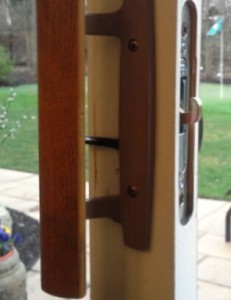 Residential patio lock set