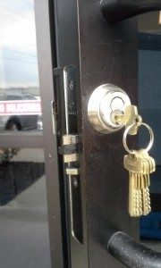 Commercial Interchangeable Cylinder Lock Installation.